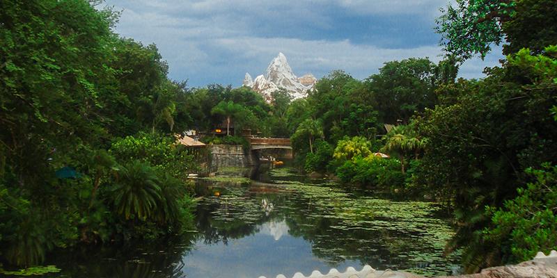 Photo de l'Everest à Disney Orlando avec couleurs optimisées pour les réseaux sociaux